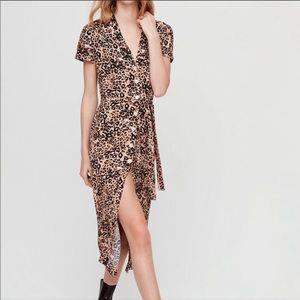 Aritzia Wilfred Leopard Shirt Dress Size M 🐆🐆